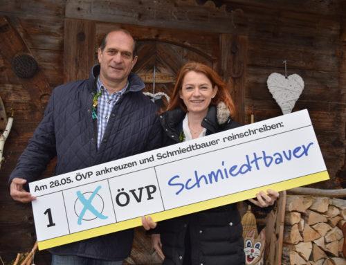 Bgm. Herbert Gugganig unterstützt Simone Schmiedtbauer bei EU-Wahl